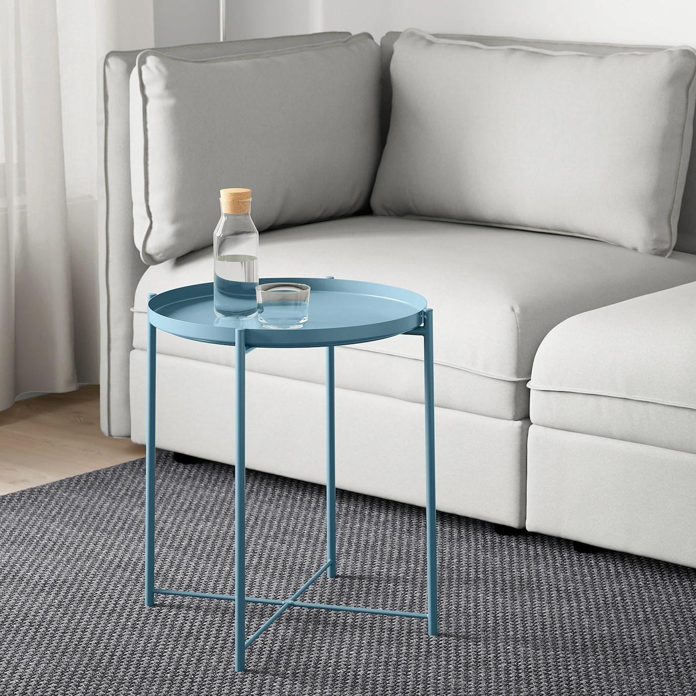 gladom tray table blue 45x53 cm