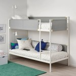 Vitval Bunk Bed Frame White Light Grey Ikea