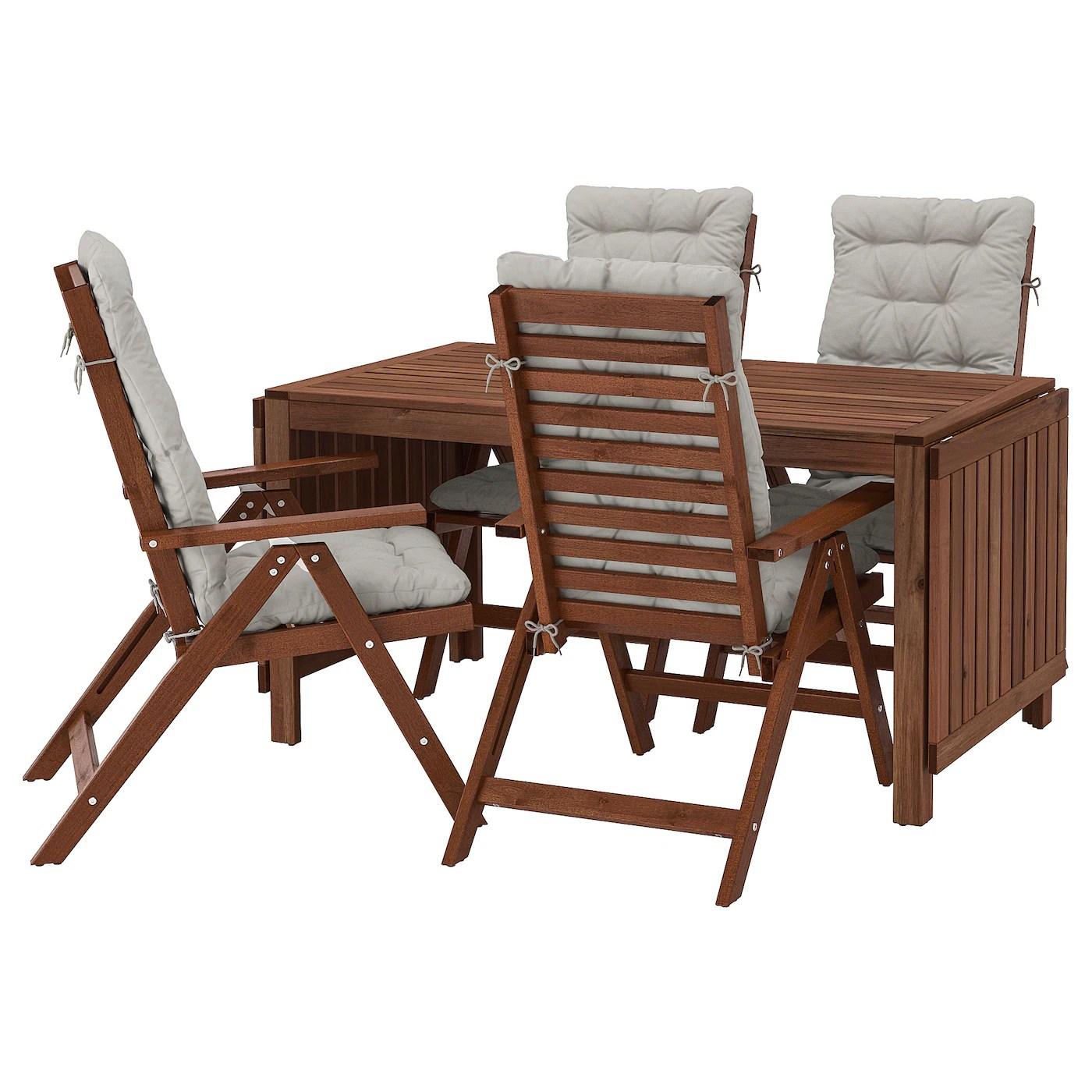 pplar table 4 reclining chairs