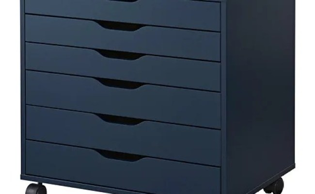 Alex Drawer Unit On Casters Blue Ikea