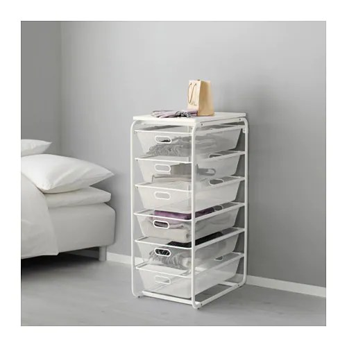 ALGOT Frame with 6 mesh basketstop shelf  IKEA