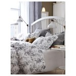 Alvine Kvist Duvet Cover And Pillowcase S White Gray Full Queen Double Queen Ikea