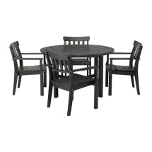 ngs table and 4 armchairs outdoor