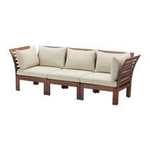 pplar 3-seat modular sofa outdoor