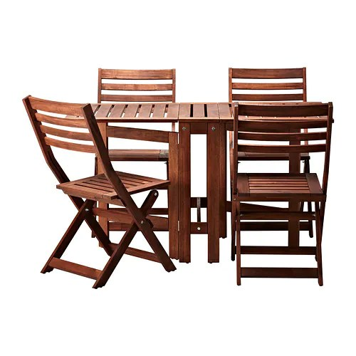 brown wooden folding chairs swing chair dedon applaro table and 4 outdoor stained