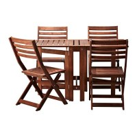PPLAR Table and 4 folding chairs, outdoor - pplar ...