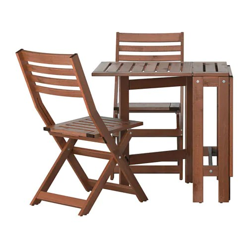brown wooden folding chairs space saving dining table and applaro 2 outdoor stained