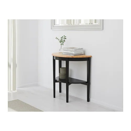 black lacquer sofa table rattan 2 seater cover arkelstorp console ikea