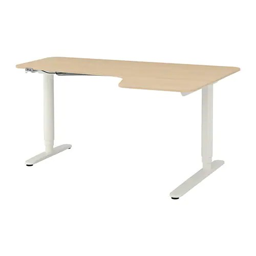 bekant corner desk right sit stand
