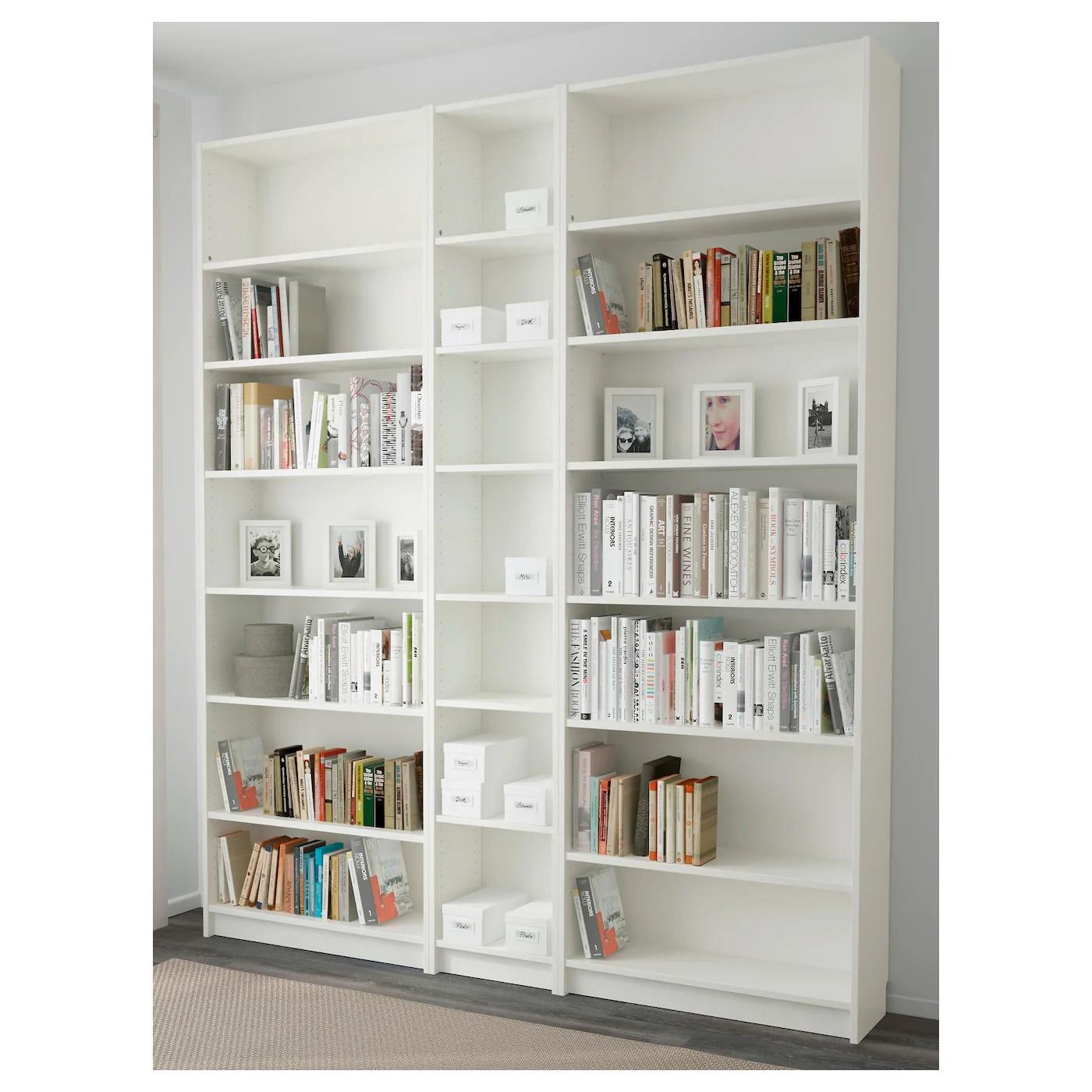 """BILLY Bookcase, white, 78 3/4x11x93 1/4""""   IKEA"""