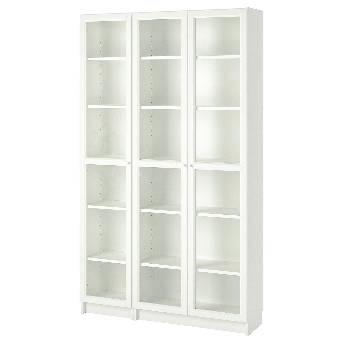 Bookcase With Glass Doors Billy Oxberg White