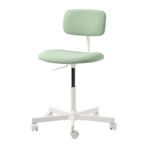 comfortable swivel chair directors covers kmart bleckberget idekulla light green ikea