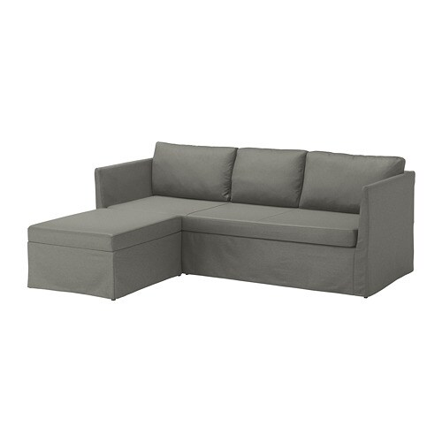 ikea sofa sleeper sectional fur esstisch brathult 3 seat borred gray green