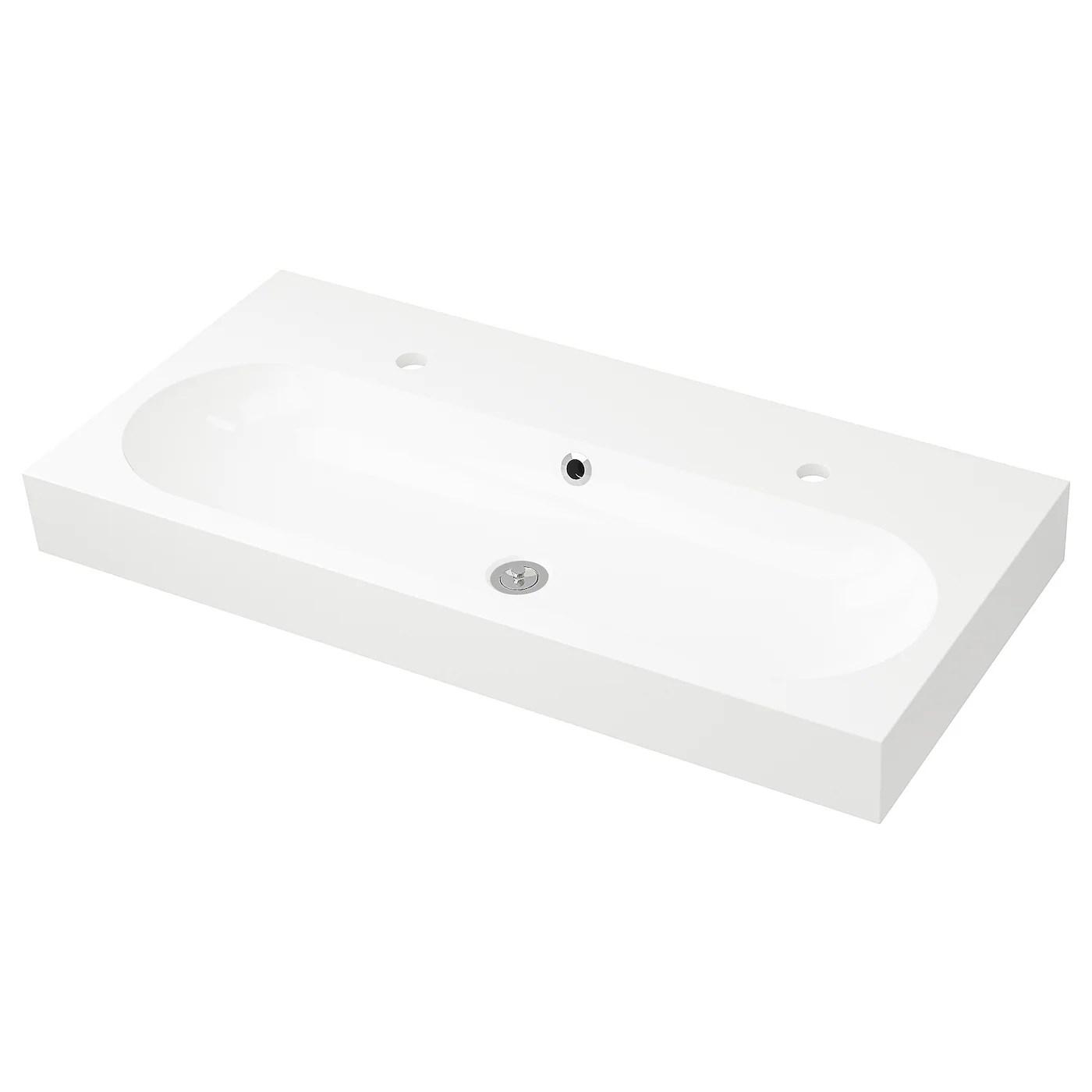 braviken sink white 39 3 8x18 7 8x3 7 8