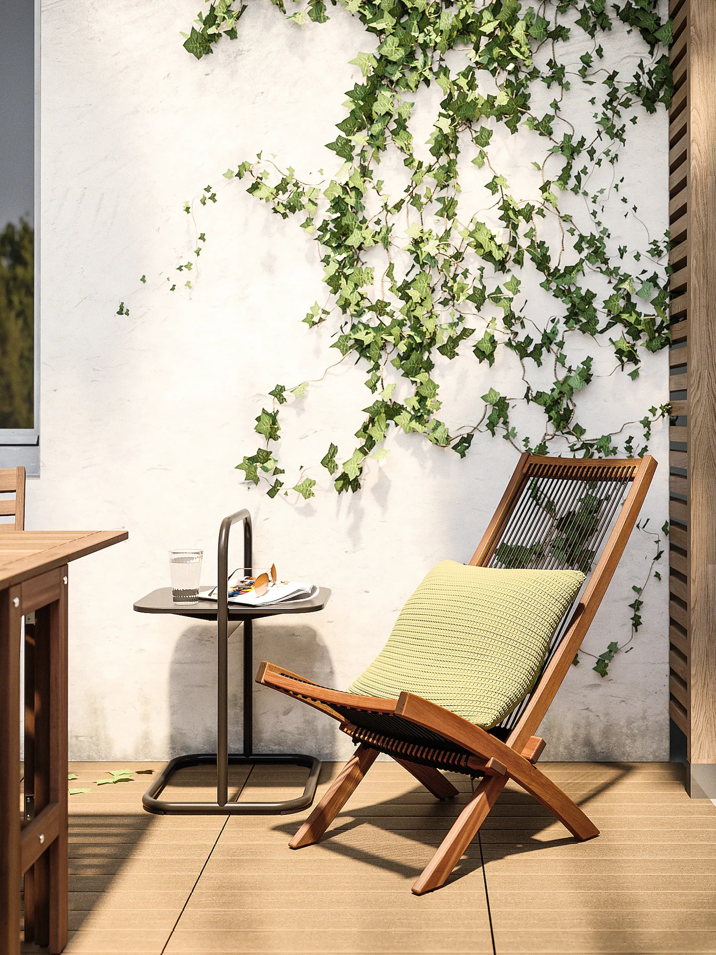 brommo chaise outdoor brown stained