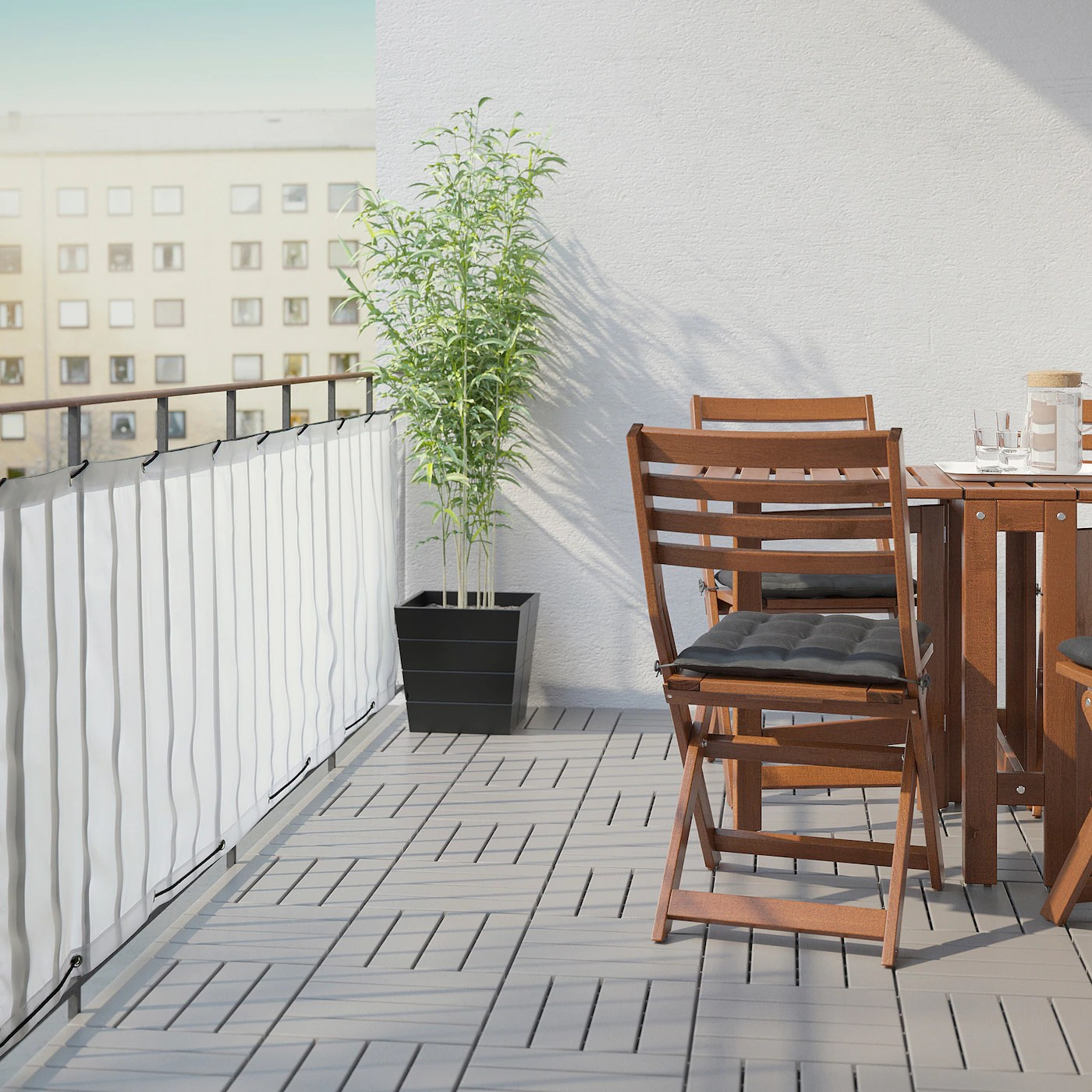 dyning balcony privacy screen white 98 3 8x31 1 2