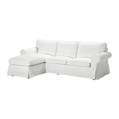 EKTORP Loveseat and chaise IKEA The cover is easy to keep clean as it is removable and can be machine washed.