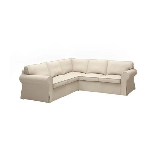 ektorp living room and kitchen paint colors sectional, 4-seat corner - nordvalla dark beige ikea