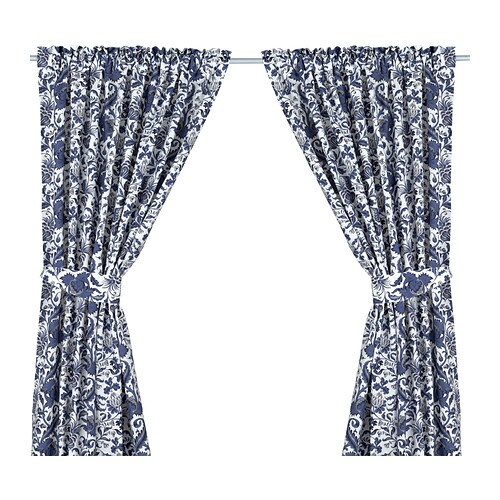 EMMIE KVIST Curtains with tie-backs, 1 pair IKEA