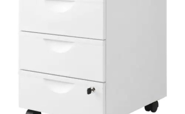 Erik Drawer Unit W 3 Drawers On Casters White Ikea