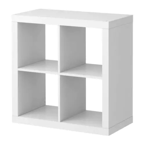 "EXPEDIT Shelving unit, white Width: 31 1/8 "" Depth: 15 3/8 "" Height: 31 1/8 "" Max load/shelf: 29 lb  Width: 79 cm Depth: 39 cm Height: 79 cm Max load/shelf: 13 kg"