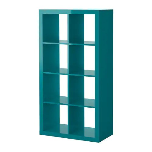 EXPEDIT Shelving unit IKEA The high gloss surfaces reflect light and give a vibrant look.