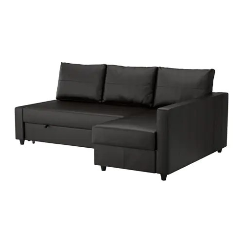 ikea sleeper sofa with chaise modern leather recliner friheten sectional, 3-seat - bomstad black,