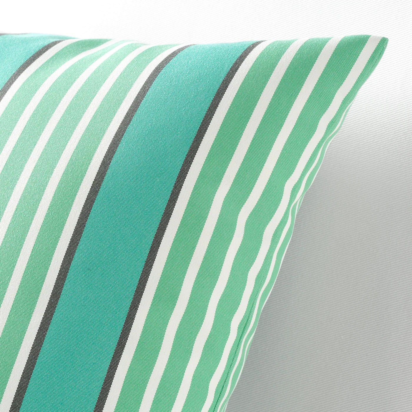 funkon cushion cover in outdoor turquoise green 20x20
