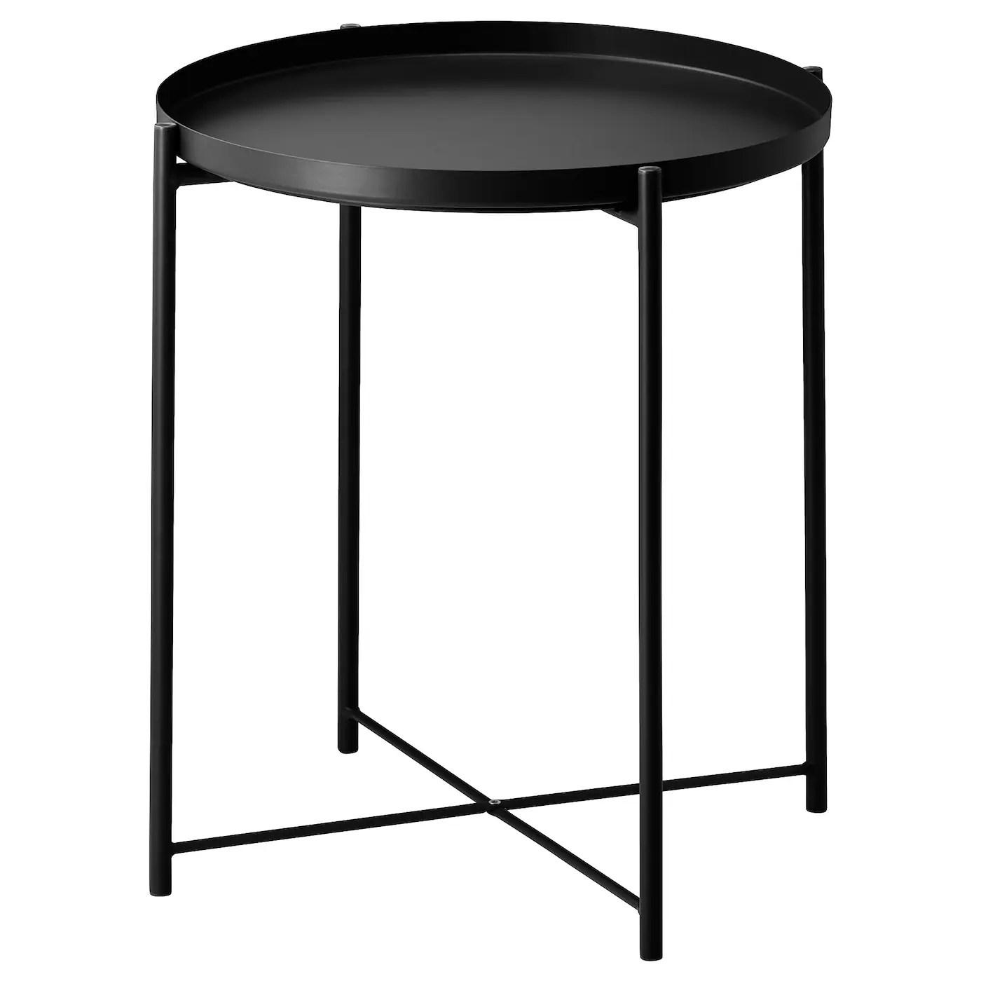 Gladom Tray Table Black 17 1 2x20 5 8 Ikea