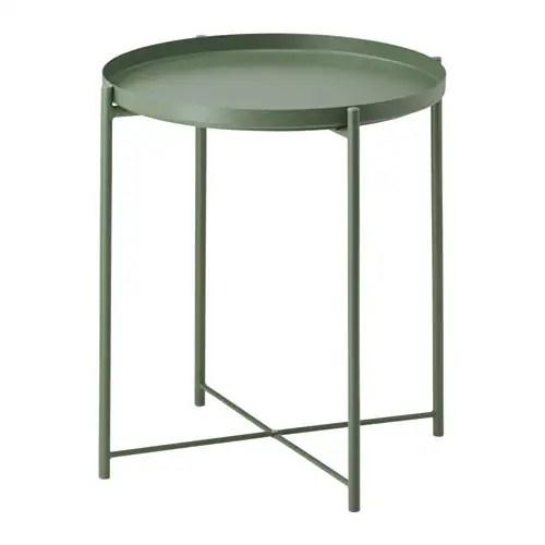 GLADOM Tray table  dark green  IKEA