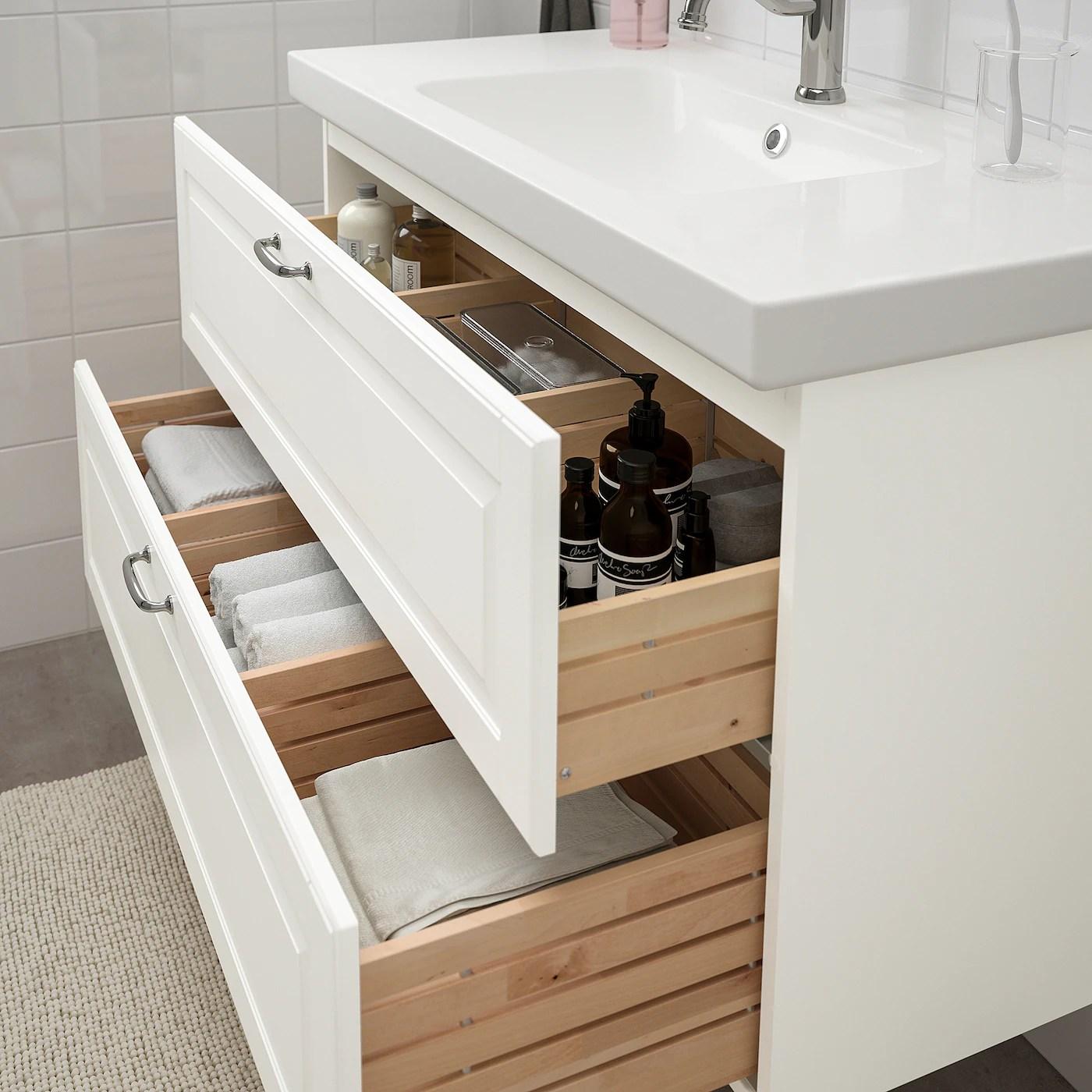 godmorgon odensvik sink cabinet with 2 drawers kasjon white hamnskar faucet 40 1 2x19 1 4x25 1 4