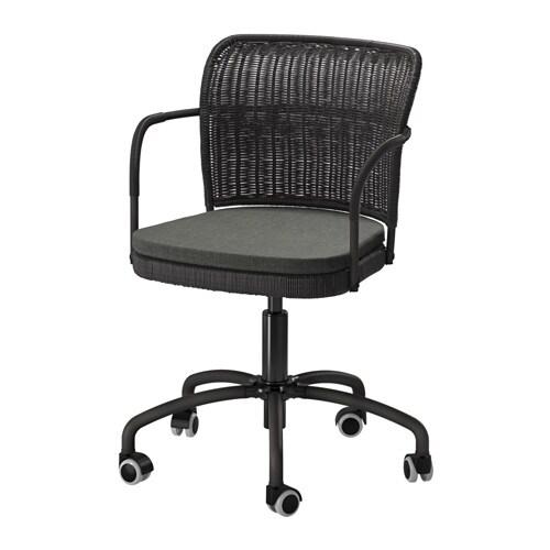 GREGOR Swivel chair  blackSvanby gray  IKEA