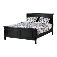 Ikea Aspelund Brown Queen Bed Frame  Nazarm.com