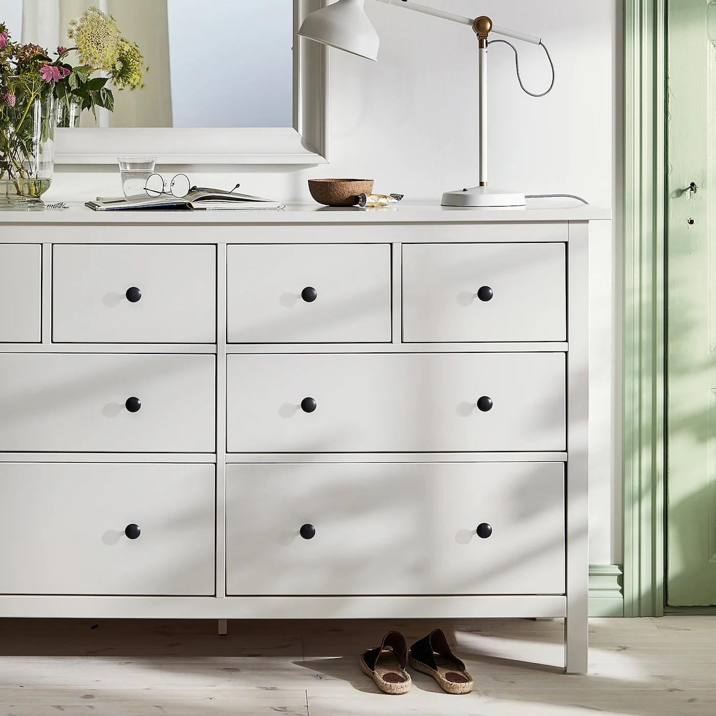 hemnes 8 drawer dresser white 63x37 3 4