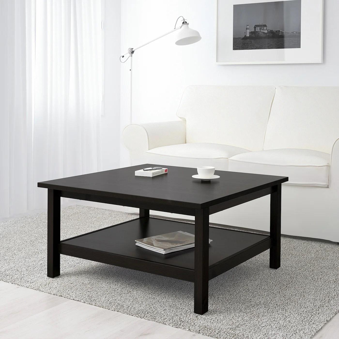 hemnes coffee table black brown 35 3 8x35 3 8