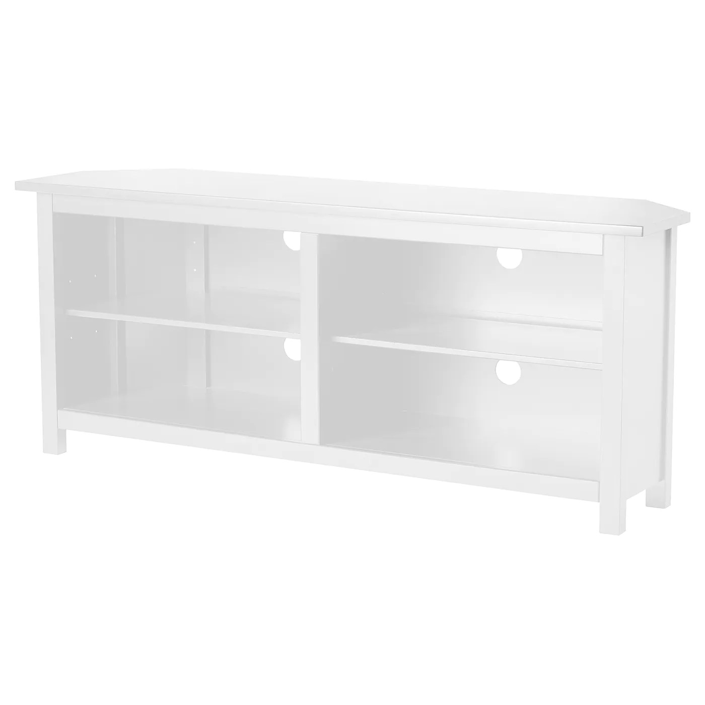 hemnes corner tv bench white 57 7 8x24