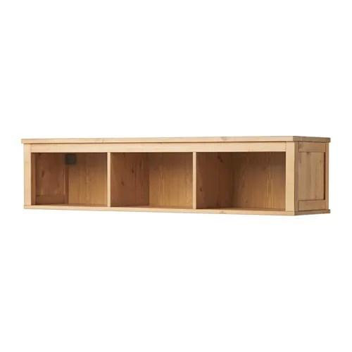 HEMNES Wallbridging Shelf Light Brown IKEA