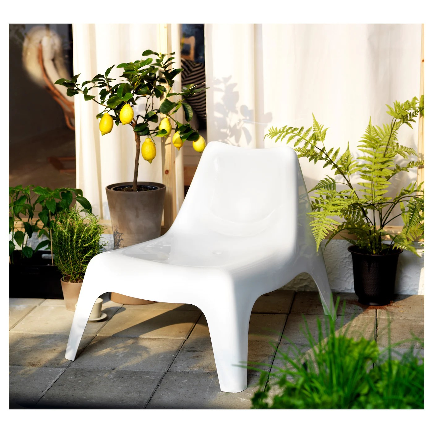 ikea ps chair outdoor - white