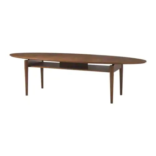 "IKEA STOCKHOLM Coffee table, golden brown Length: 66 7/8 "" Width: 23 5/8 "" Height: 17 3/4 ""  Length: 170 cm Width: 60 cm Height: 45 cm"