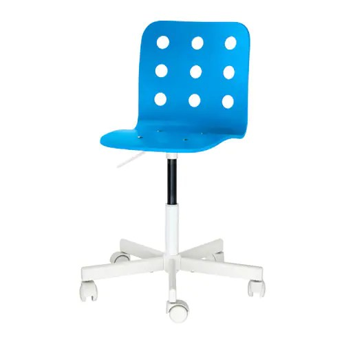 desk chair blue swinging stand jules child s white ikea