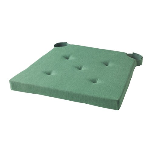 green chair cushions office with adjustable lumbar support justina pad ikea