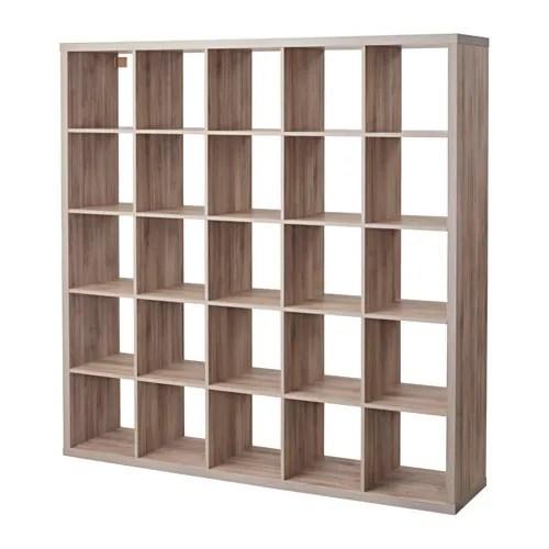 living room wall color ideas with brown furniture barcelona chair kallax shelf unit - walnut effect light gray ikea