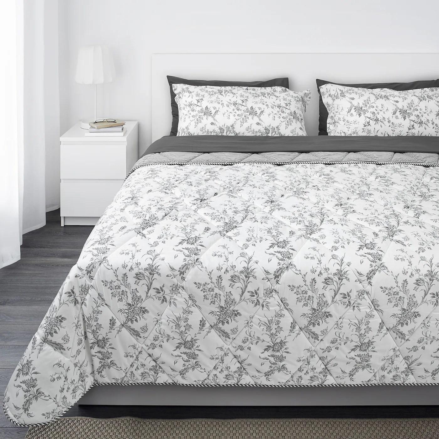 kirskal comforter set 7 pieces white gray king