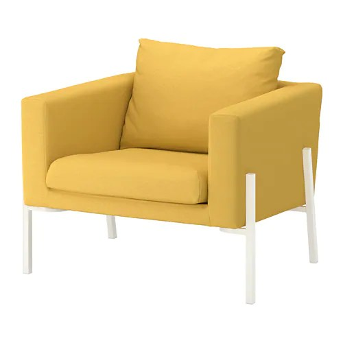 KOARP Armchair  Orrsta goldenyellow white  IKEA