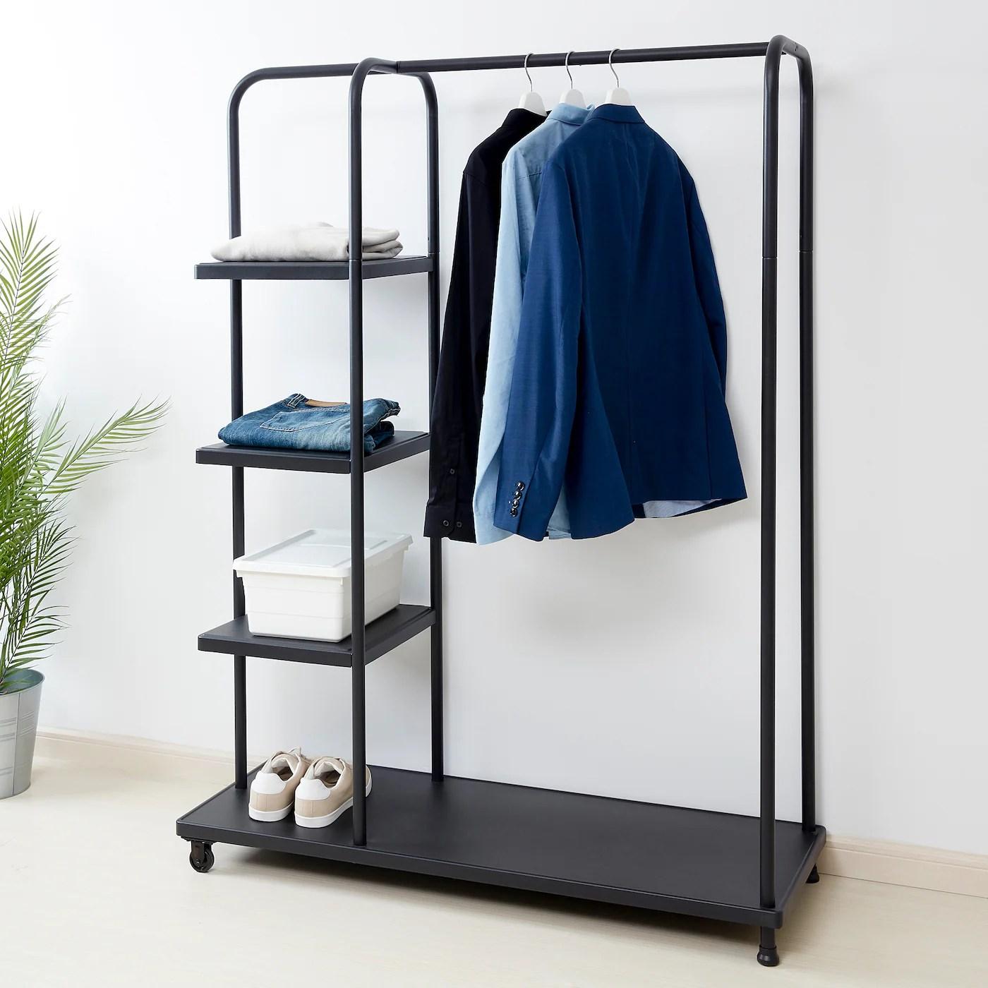 kornsjo clothes rack black 47 1 4x17 3 4x63