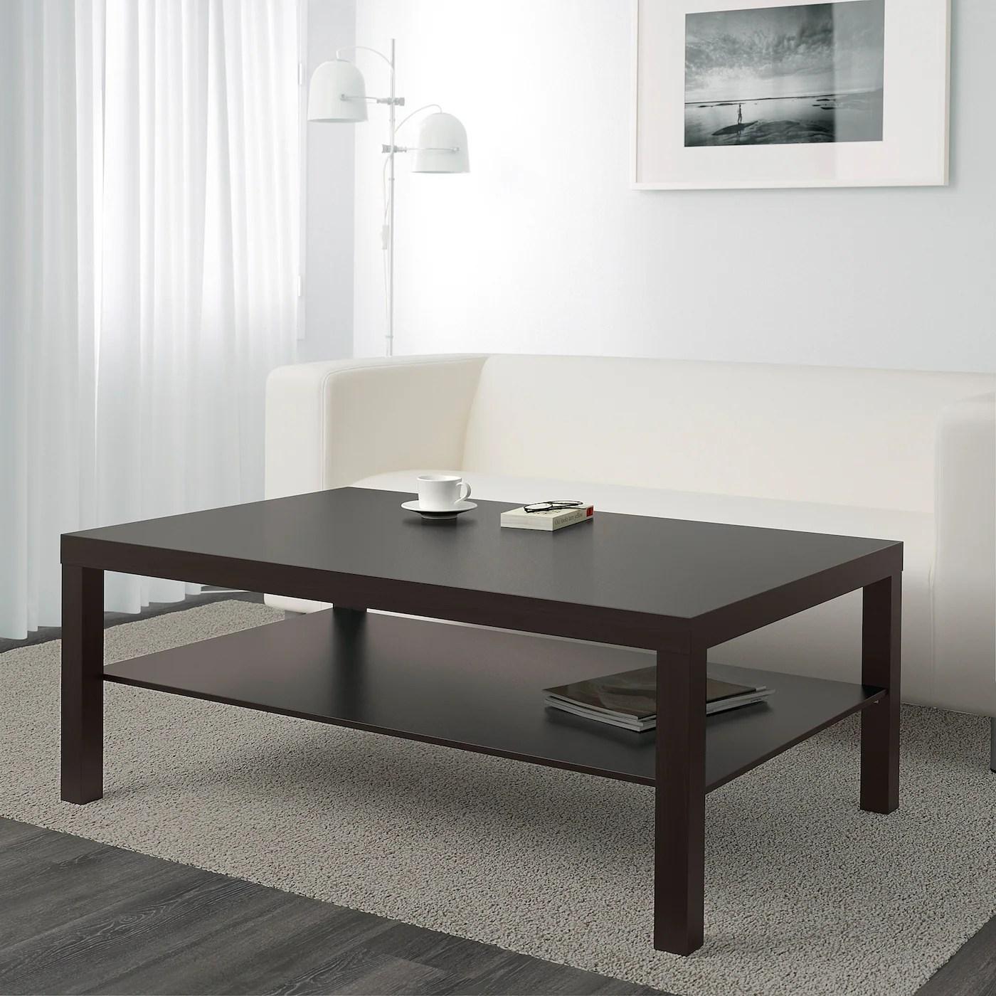 lack coffee table black brown 46 1 2x30 3 4