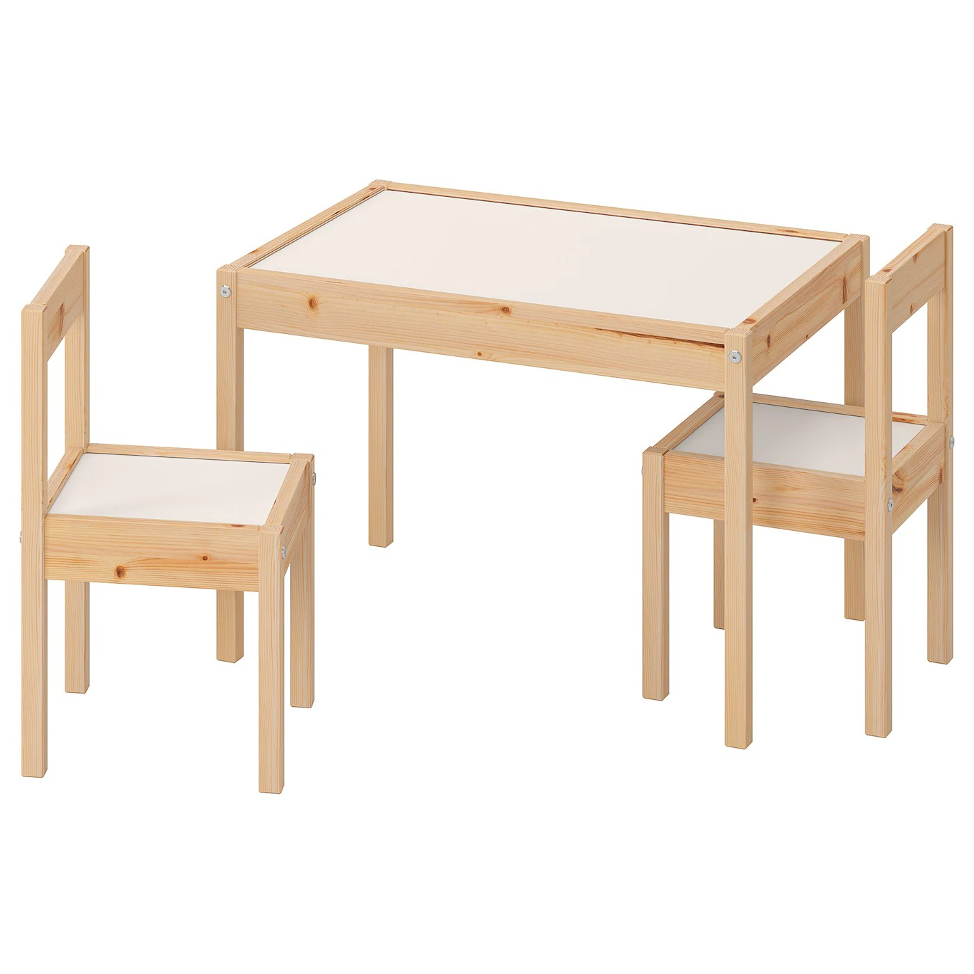 Latt Children S Table And 2 Chairs White Pine Ikea