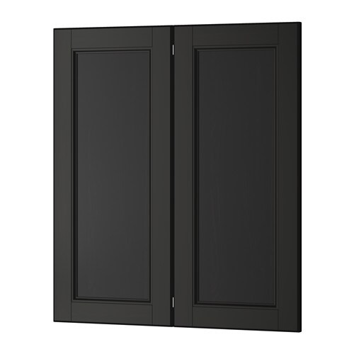 ikea corner kitchen cabinet recycling center laxarby 2-p door/corner base set -