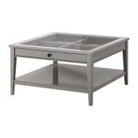 LIATORP Coffee table - gray/glass - IKEA