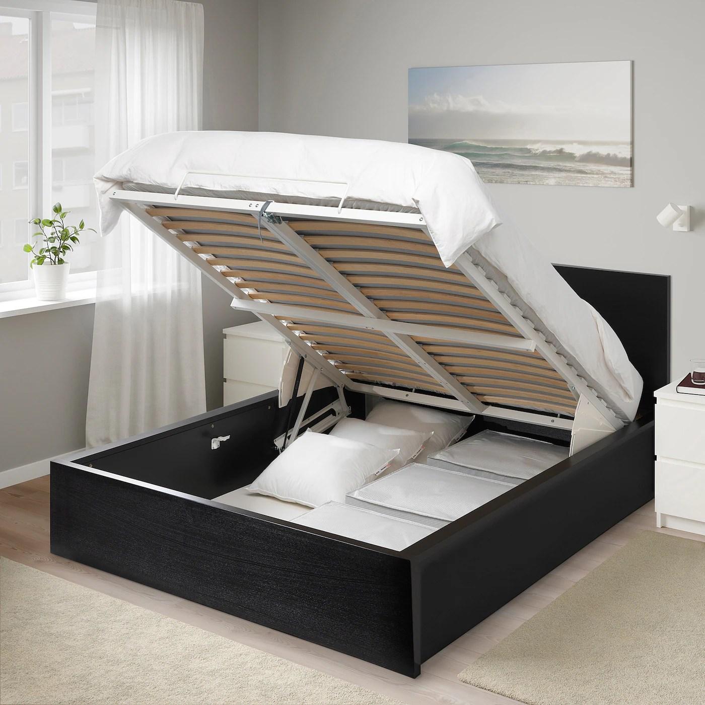 Malm Storage Bed Black Brown Ikea